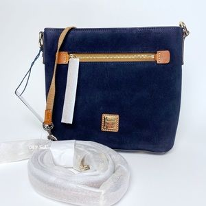 DOONEY AND BOURKE SUEDE SMALL ZIP CROSSBODY